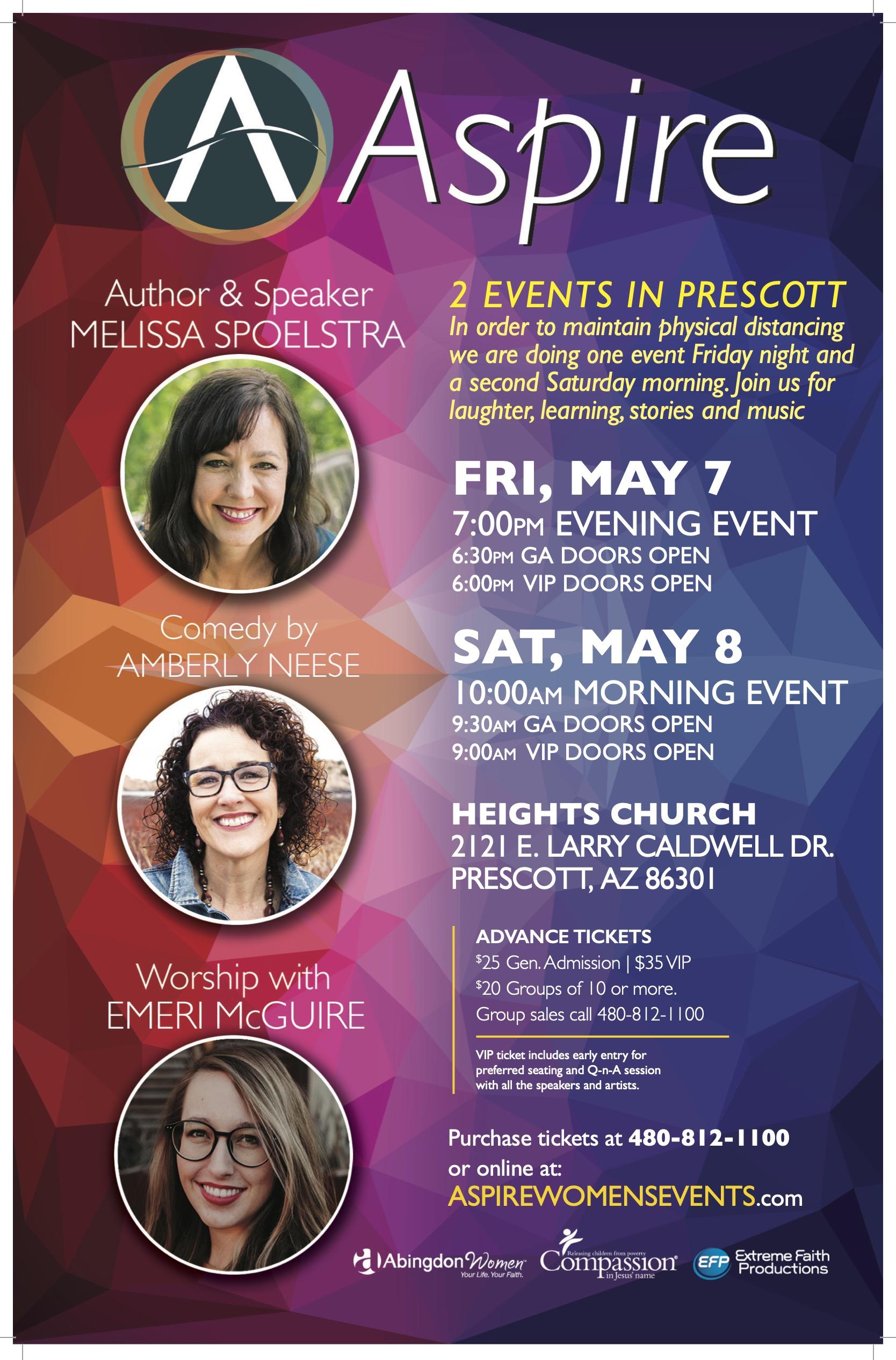 ASPIRE FRI MAY 7-SAT MAY8 Prescott