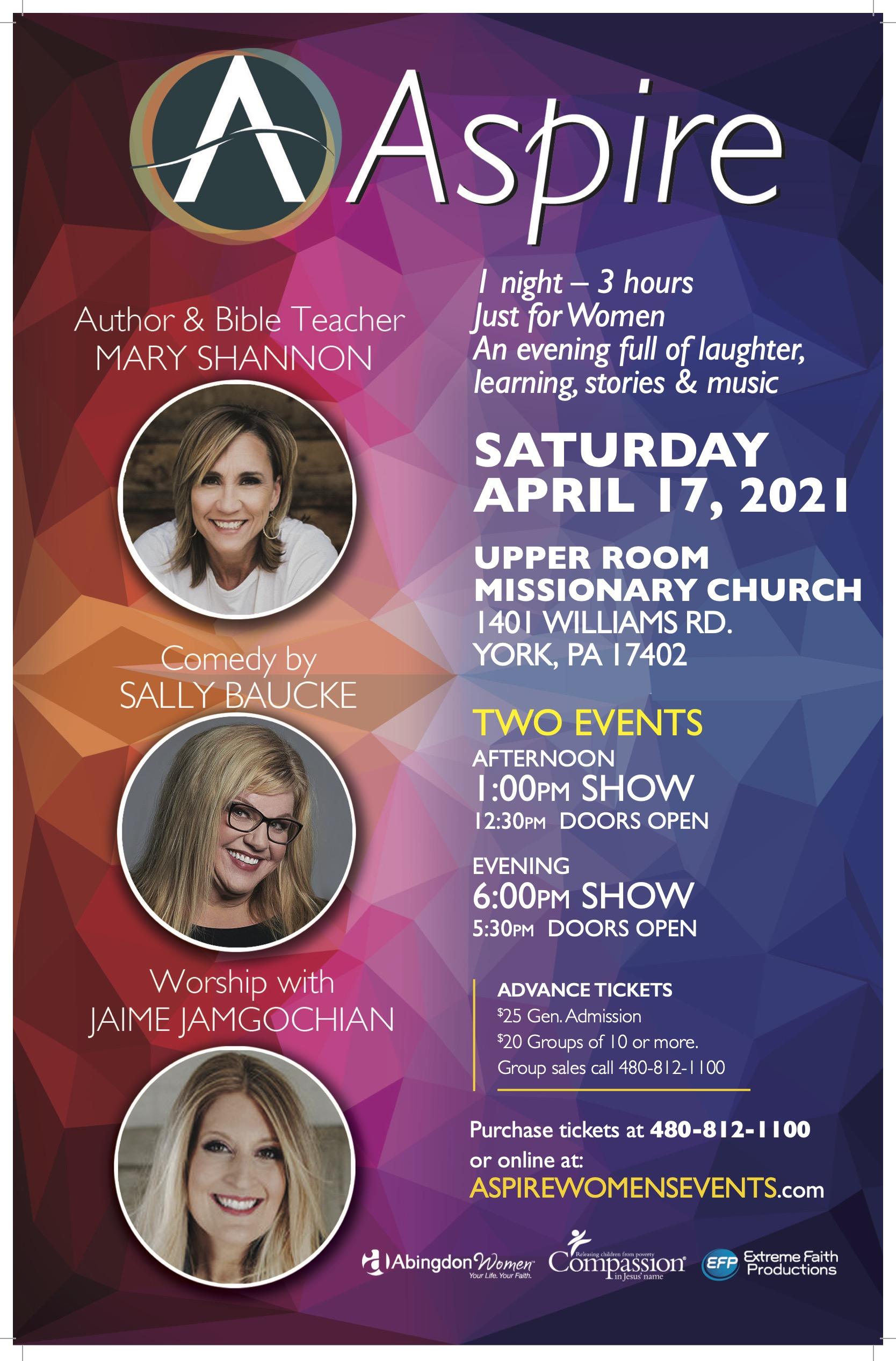 ASPIRE SAT-April 17- YORK PA