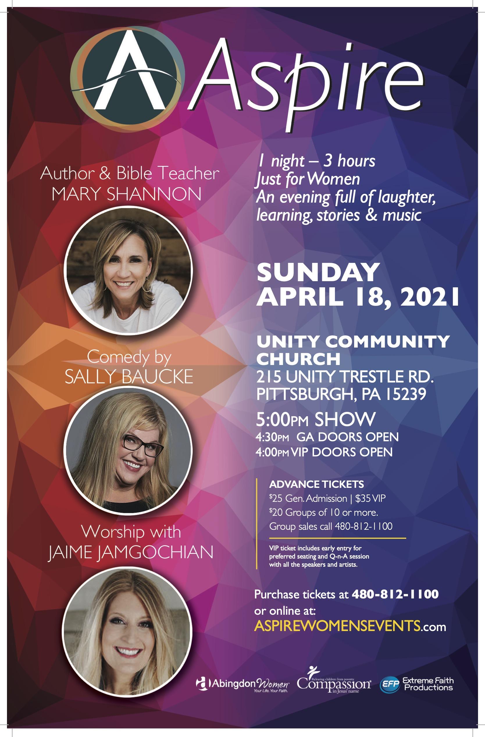 ASPIRE SUN-April 18-PLUM Pittsburgh