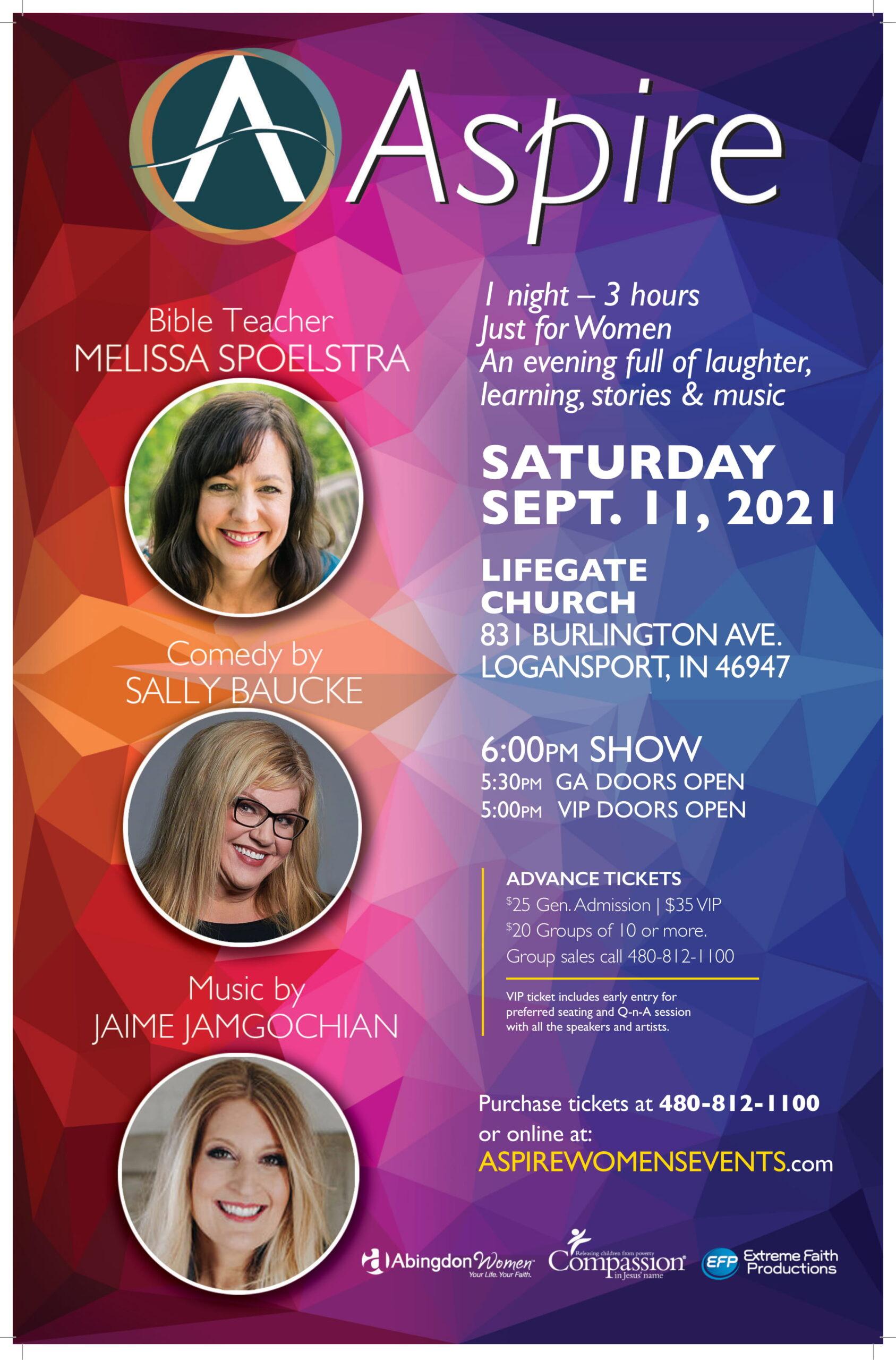 ASPIRE FRI Sept 11 Logansport Poster