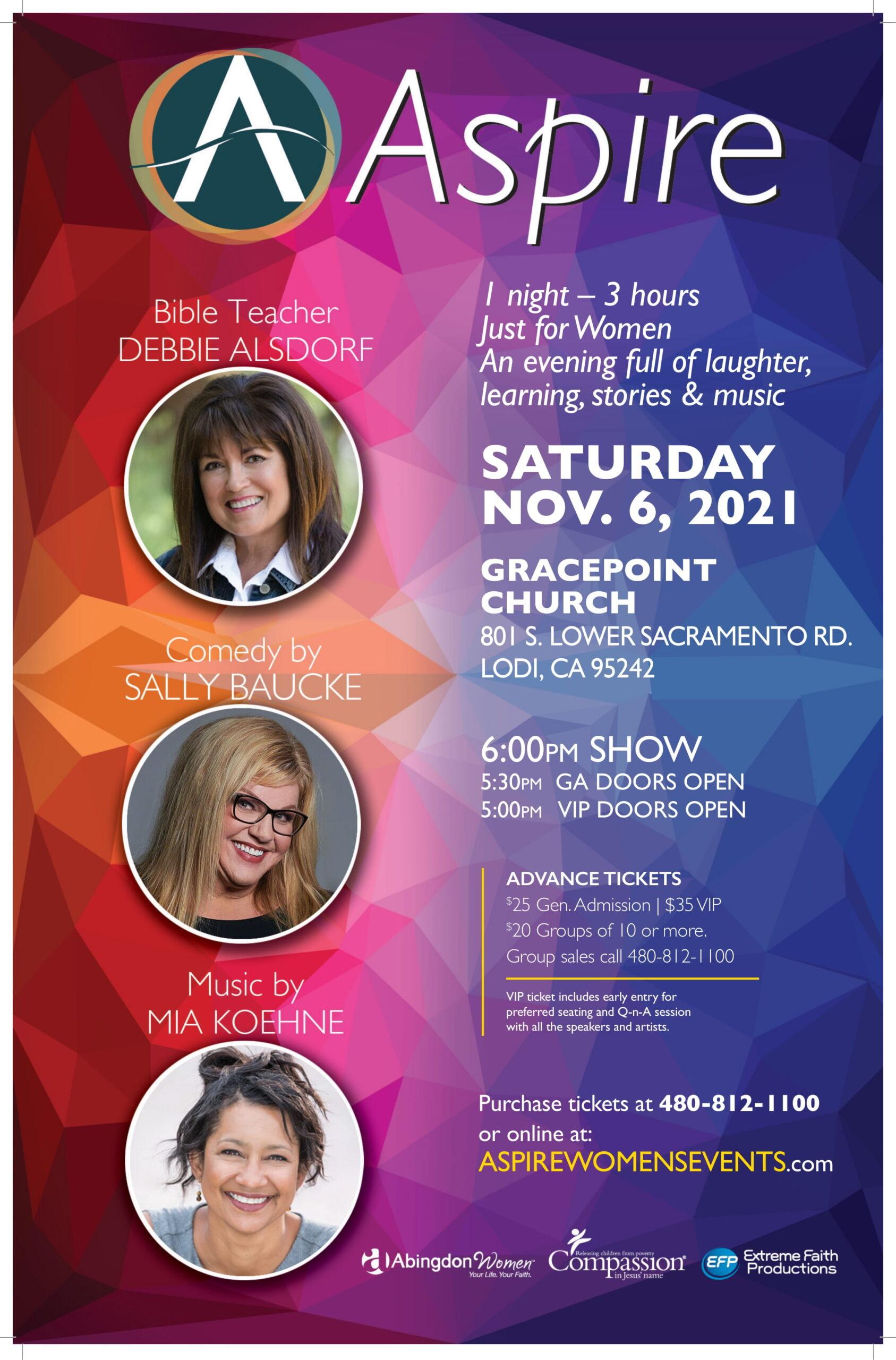 ASPIRE SAT Nov 6 Lodi CA,- Poster