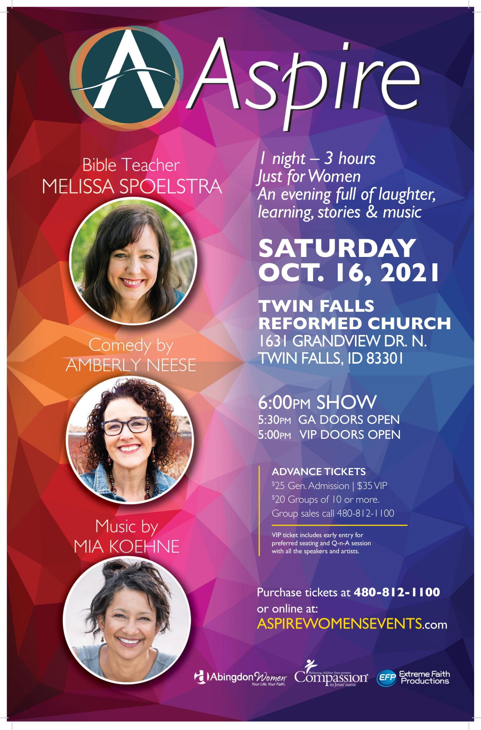 ASPIRE SAT Oct 16 Twin Falls ID-Poster
