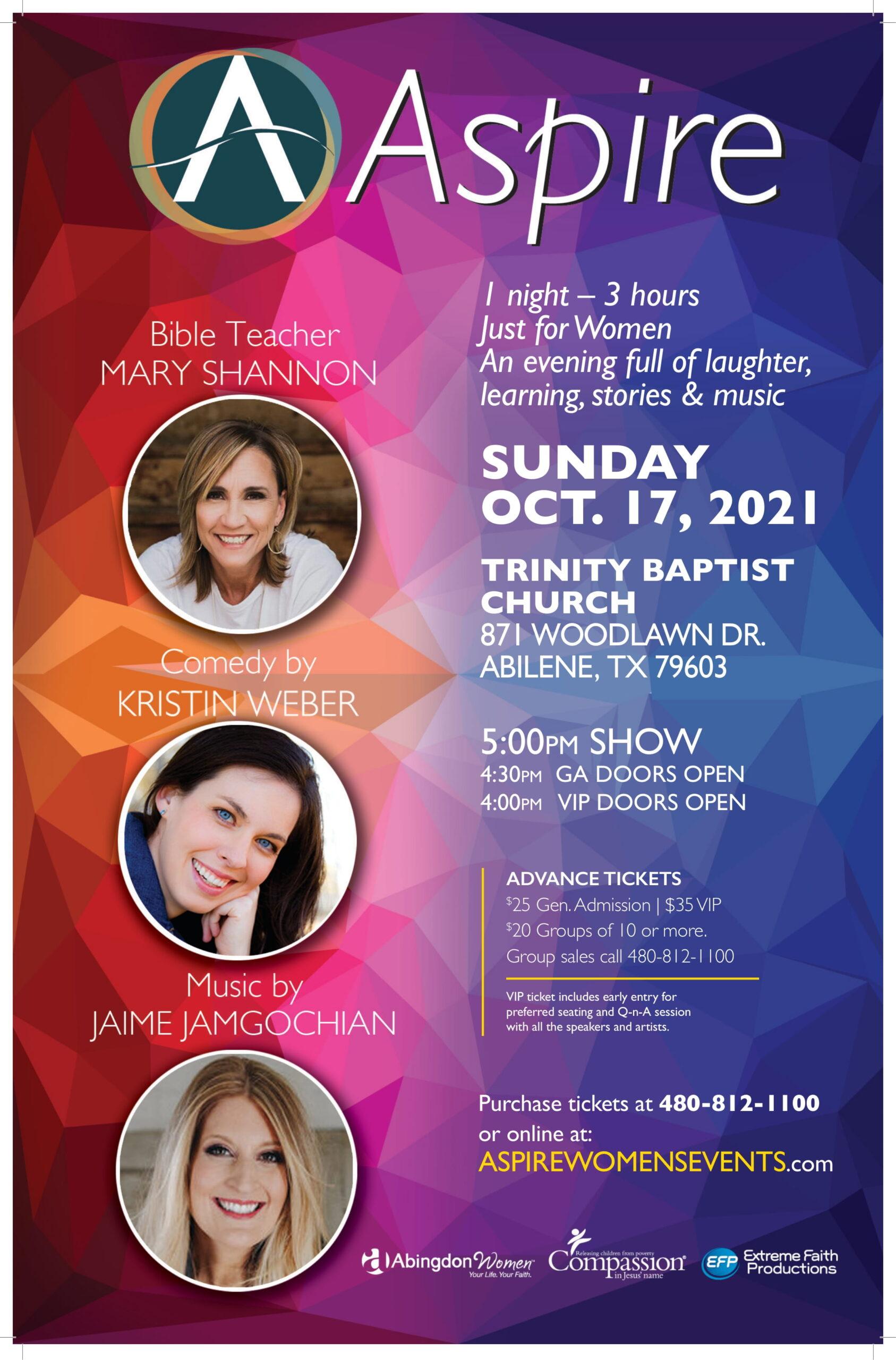 ASPIRE SUN Oct 17 Abilene TX-Poster